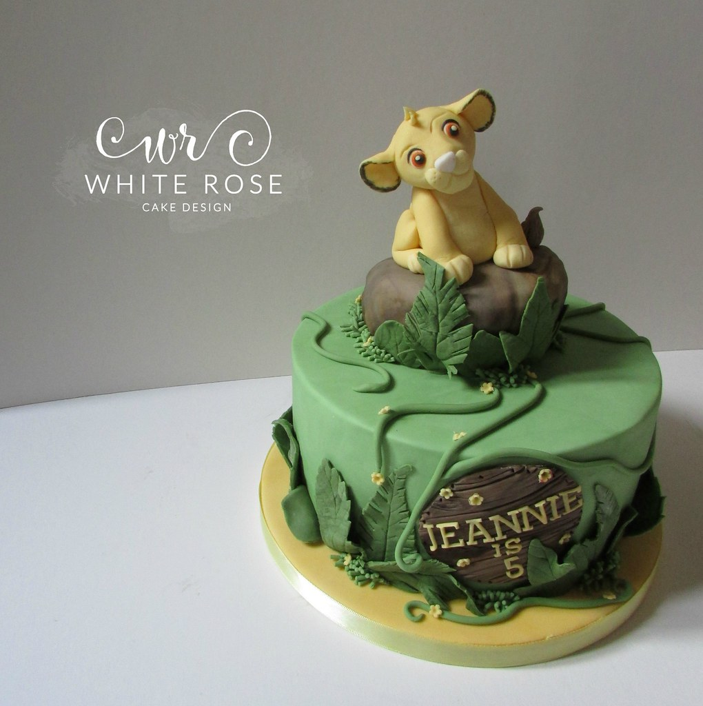 Simba Lion King Jungle Themed 5th Birthday Cake Huddersfie Flickr