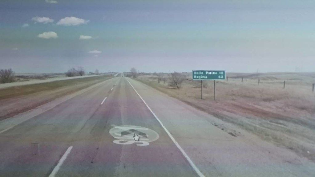 62 km to Regina! #yqr #googlestreetview #xcanadabikeride #ridingthroughwalls #Saskatchewan