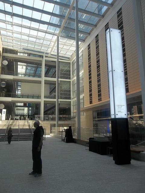 Inside the atrium of the MaRS Discovery Centre