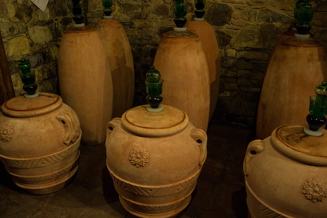 Traditional Teracotta Wine Casks