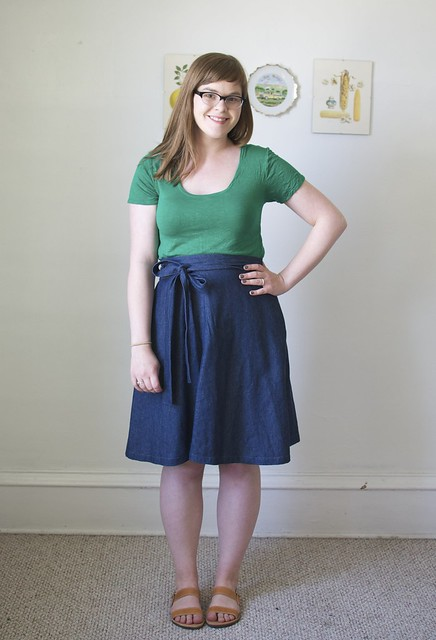 Tilly's Miette Skirt and Deer & Doe's Plantain Tee