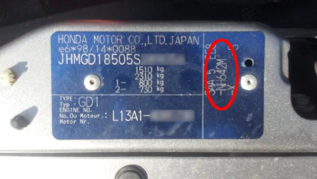 Honda Jazz Paint Code