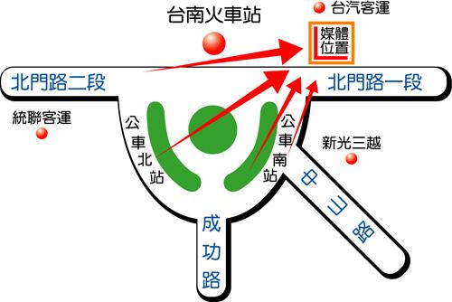 台南市北門路map
