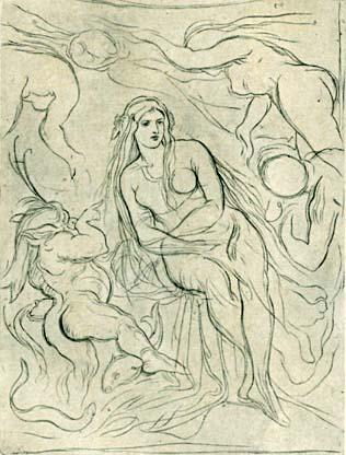 Moritz von Schwind, Entwurf zur Historie von der schönen Lau, ca. 1868