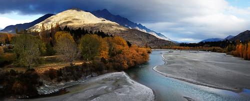 autumn mountains queenstown braidedriver volvob12b sonydslra580 shotoverriverotago