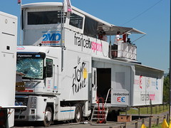 "Le camion ""transformer"" de France Télévision sur le Tour de France"