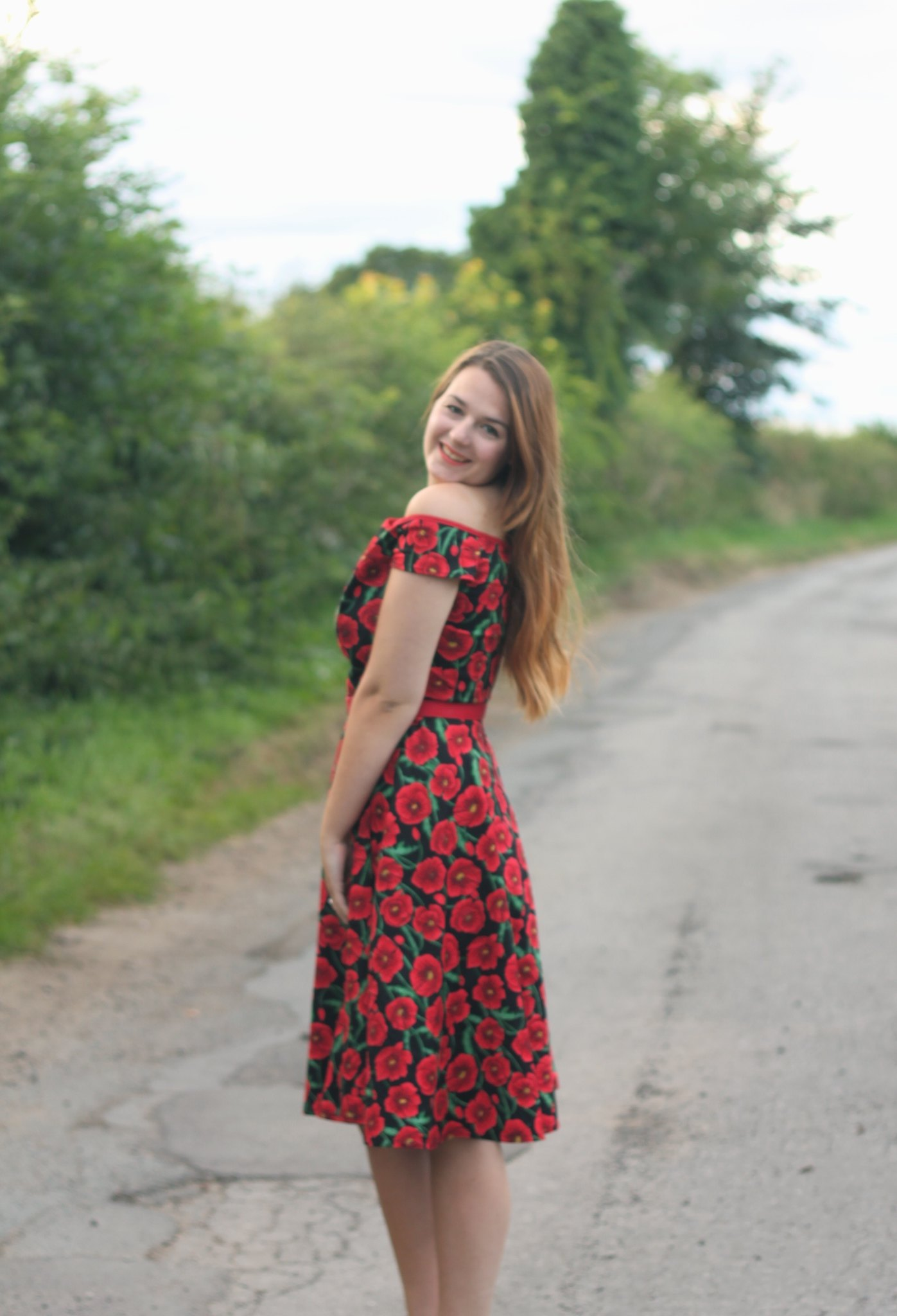 Hell Bunny Cordelia Poppy Dress