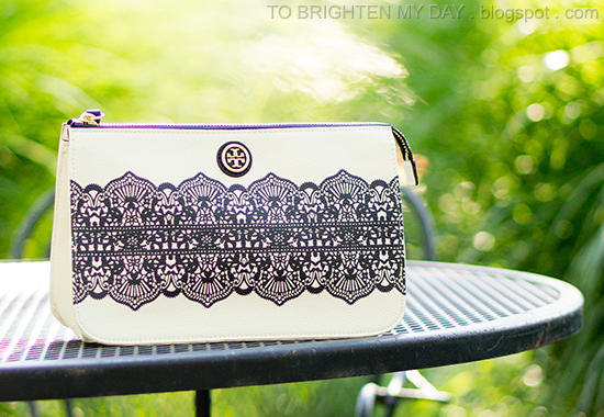 Tory Burch Kerrington lace printed clutch