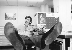 my shoes, at work 1969