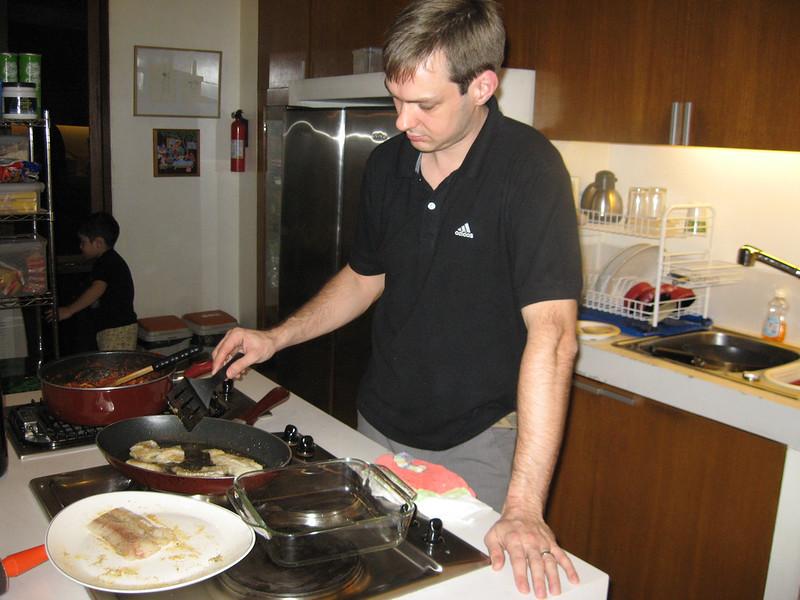 Jeroen cooking