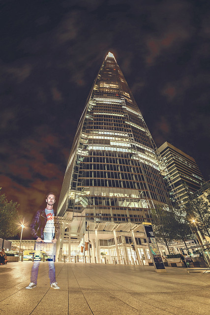 The Shard - Ghosting Self Portrait Long Exposure Panorama