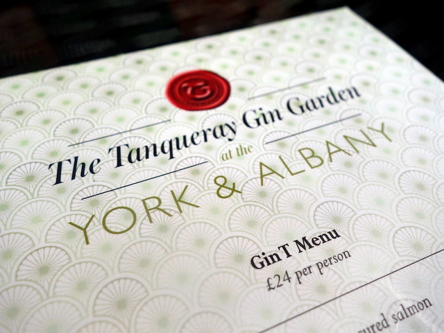 York and Albany Gin T Menu(9)