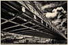 Marlow Suspension Bridge spanning the River Thames