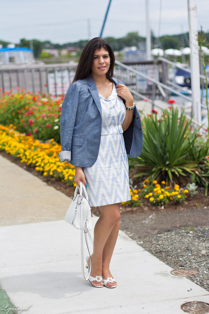 chevron dress, chambray blazer-5.jpg