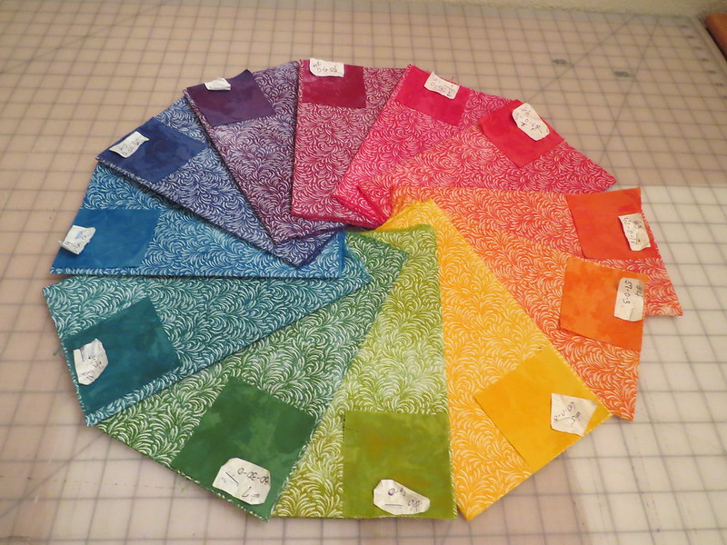 12 Hand Dyed Fat Quarters