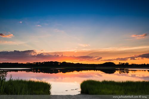 sunset summer sky sun ny reflection water beautiful clouds creek evening bay coast suffolk nikon pretty awesome july peaceful wideangle longisland shore marsh local rays epic northfork eastend 2014 d610 nofo westcreek newsuffolk nikkor1635mmf4vr jschusteritsch northforker jonschusteritsch