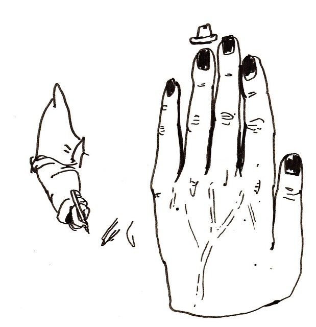 farmor löser korsord samt en hand