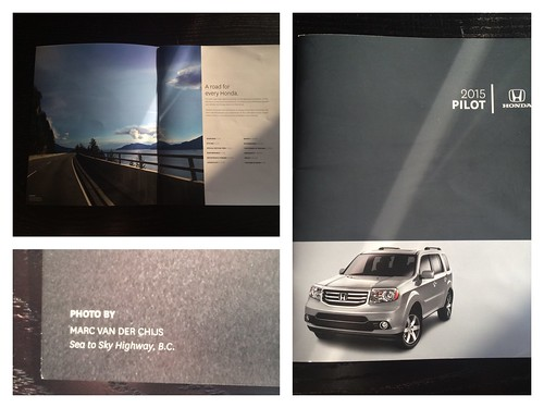 One of my Flickr pictures was used by Honda for a car brochure
