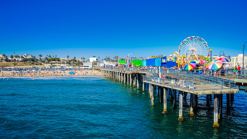 Santa Monica pier-California