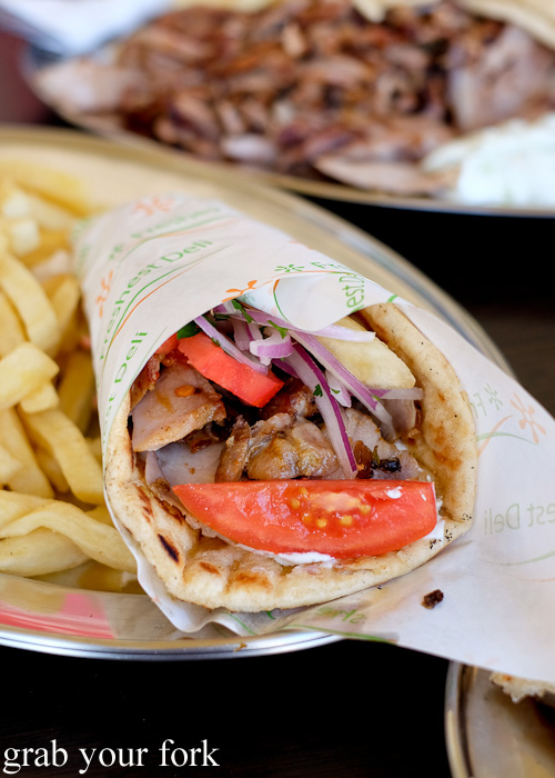 Pita chicken gyros at Traditional Gyradiko, Bexley