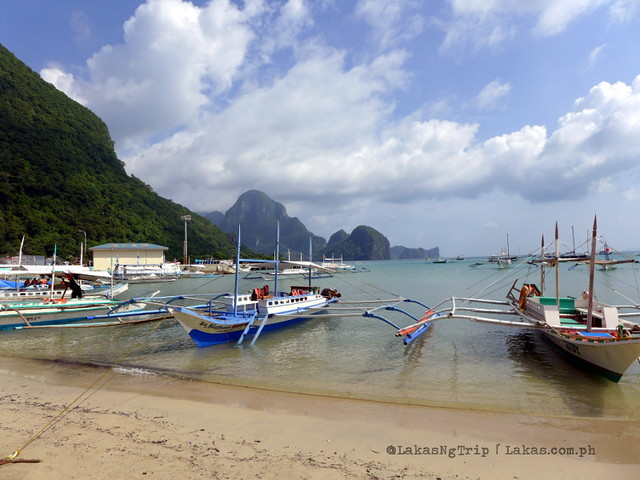 At the beach of El Nido Town Proper.
