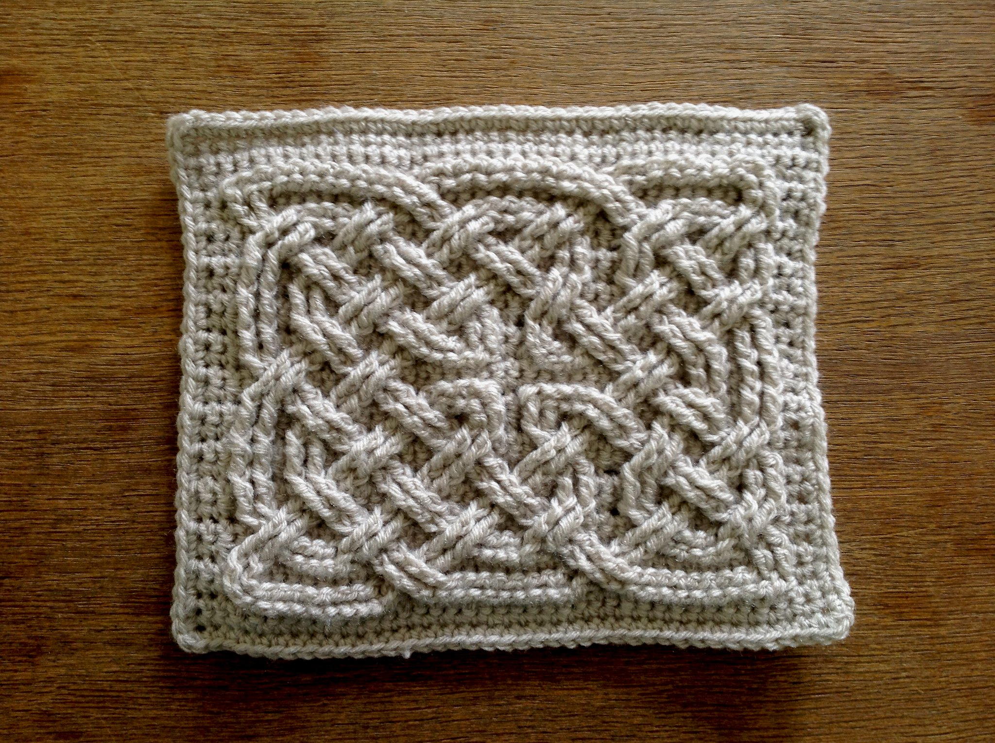 Crochet Knot : Suvis Crochet: Book of Kells - Celtic Square Knot