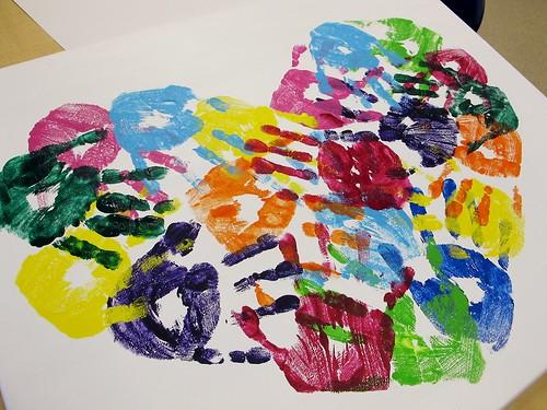 Kindergarten Art Auction Projects: Mrs. P's Hearts