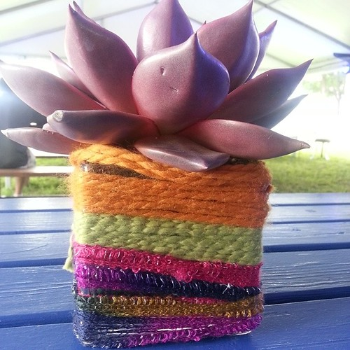 Creative use of yarn #Lollapalooza2014