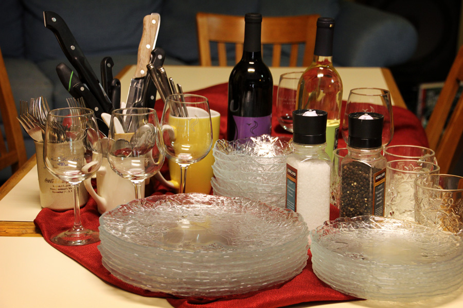 Host a large dinner party on short notice