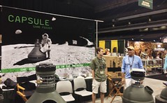 Official Capsule Game Feeders + Badass Auger Booth at The Texas Trophy Hunters Association  Hunters Extravaganza at the Alamodome this weekend. Summer 2014.