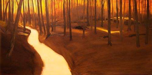 Autumn woods pano 3
