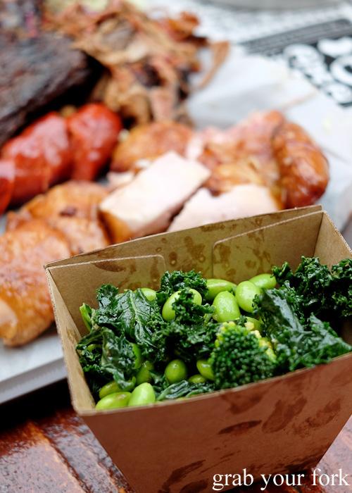 Kale and edamame salad at the Oxford Tavern, Petersham