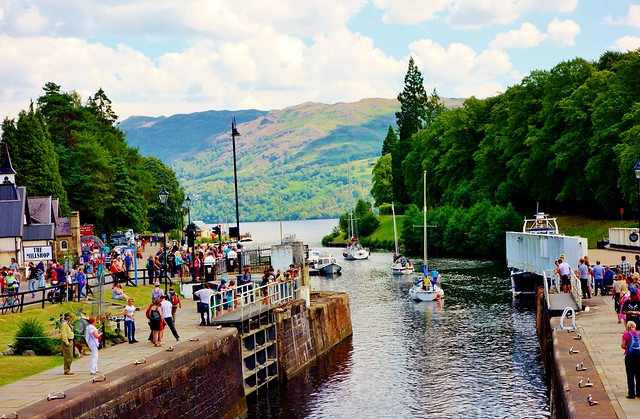 Southern entrance to Loch Ness from Fort Augustus