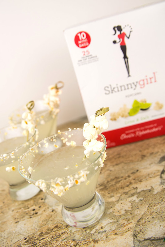 Salted Popcorn Margarita Martinis #SkinnyGirlSnacks #Shop