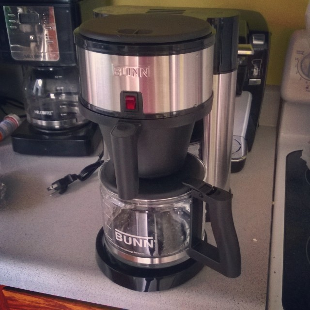 Got a new coffee maker. May be just a little geeked. #bunn #coffee