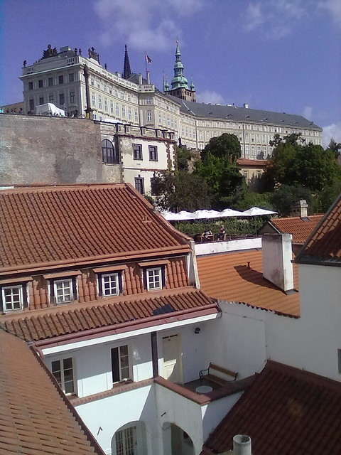 View from a window in Mala Strana, Prague, to the Castle. Photo: Andrea Gerak