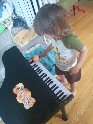 Captain Hook, playing the piano