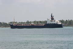 Heading Upbound near Detroit on the Detroit River