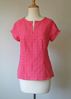 eyelet top on form
