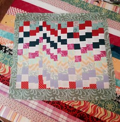 Bargello scrap happy block