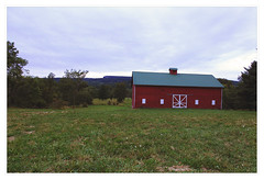 Red Butterville Barn overlooking Mohonk