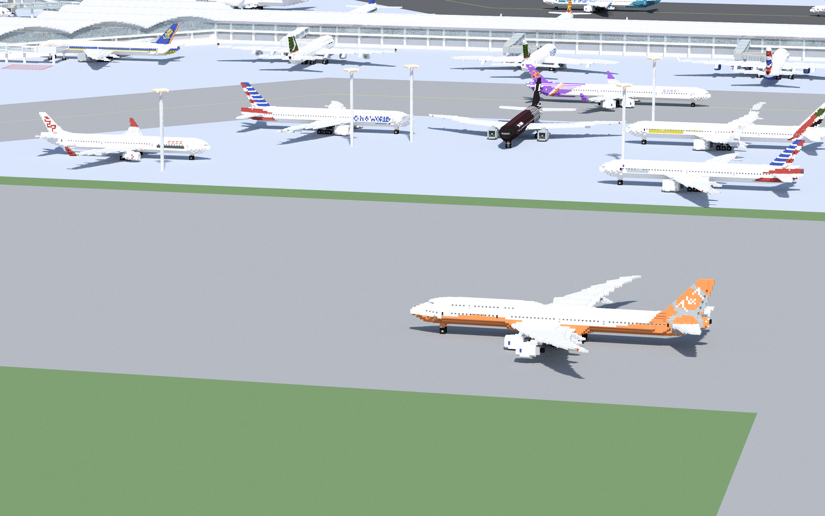 Boeing 747 8i Sunrise Creative Mode Minecraft Java Edition