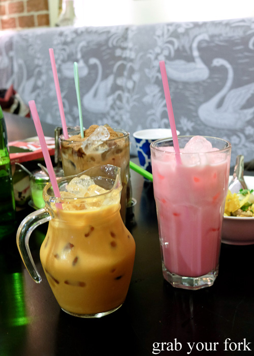 Thai drinks at Do Dee Paidang, Haymarket Chinatown Sydney
