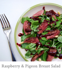 Raspberry & Pigeon Breast Salad