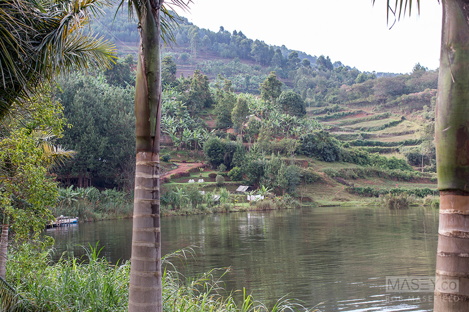 Looking out over Lake Bunyonyi.