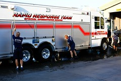A shift washing 1 of 4 vehicles at St. 206
