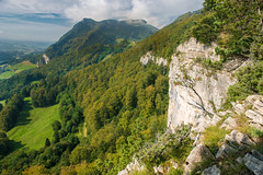 Cliff Face Jura Mountains Switzerland