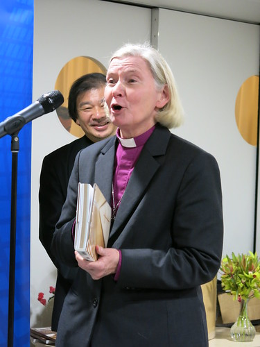 Bishop Victoria Matthews and Shigeru Ban