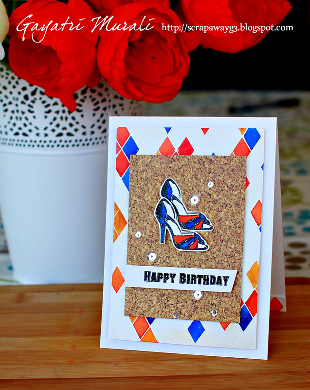 Happy Birthday shoe card