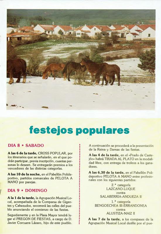 Programa Fiestas de San Lorenzo Año 1987